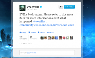 EVE is Back Online
